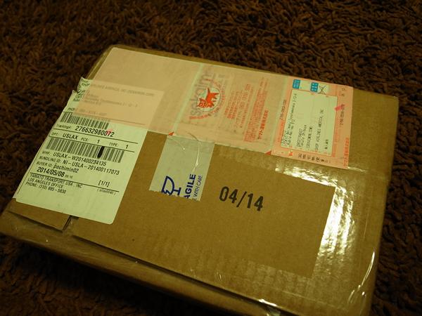 ブギーボード届いた箱