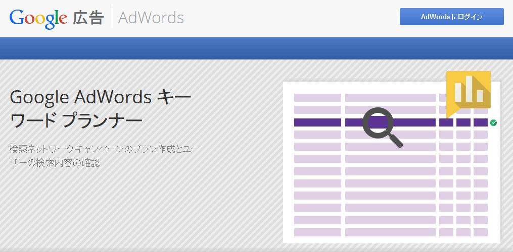 adwordsログイン画面