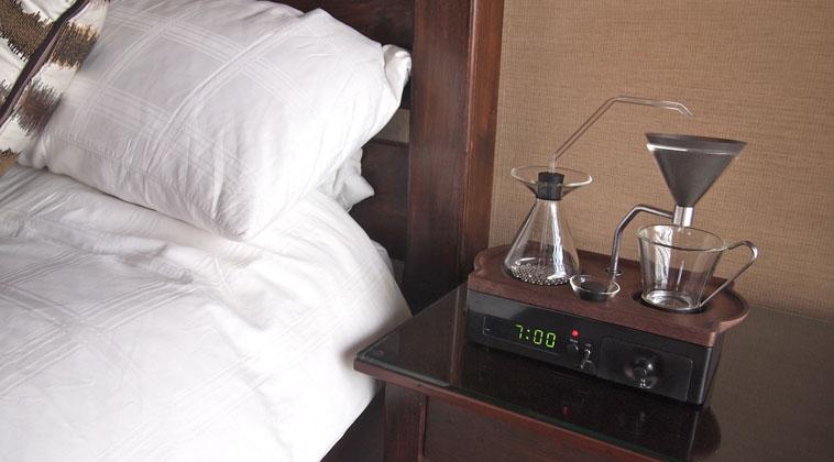 目覚まし機能付きコーヒーメーカー