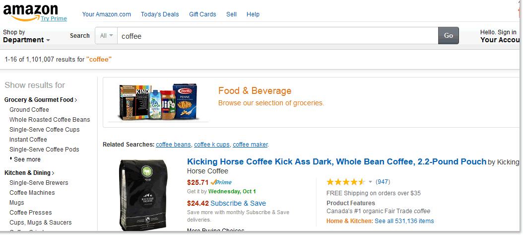 amazon.comの検索結果