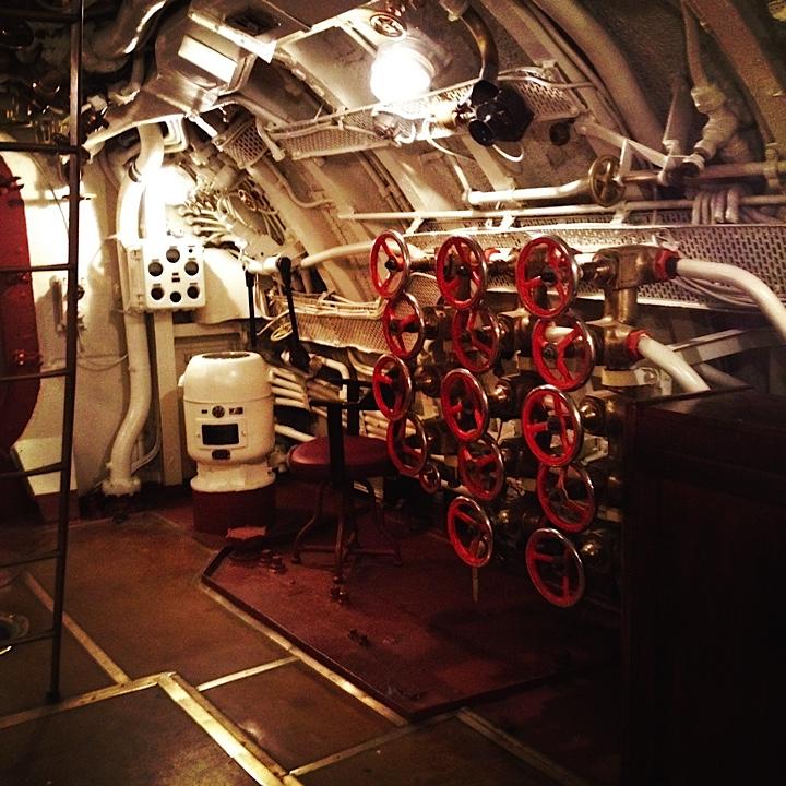潜水艦の中